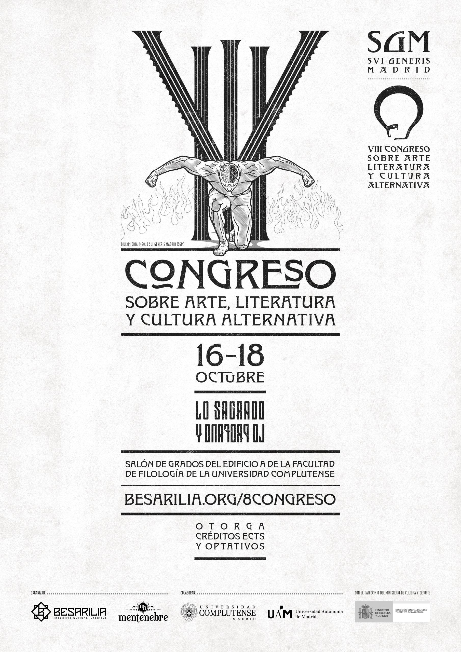 Cartel VIII Congreso SGM - Billyphobia 2019 © Todos los derechos reservados a Besarilia