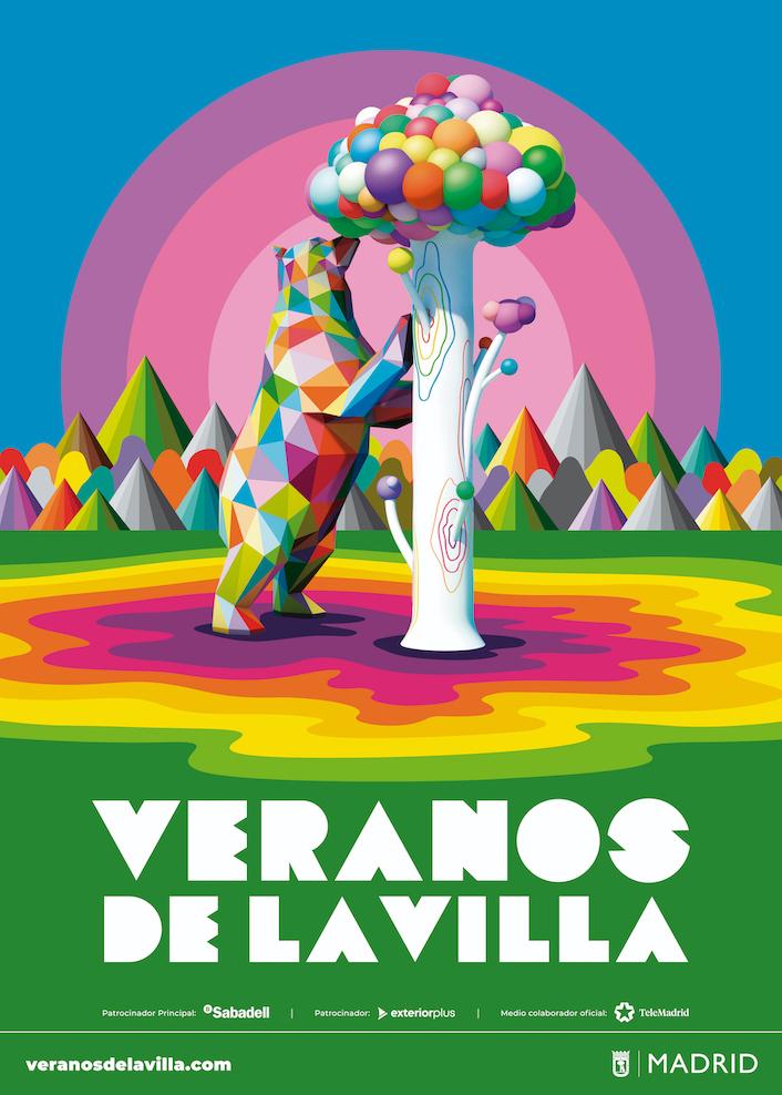 Cartel Veranos de la Villa 2020 © Okuda San Miguel